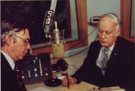 Neil and René Lévesque at CJAD 1983