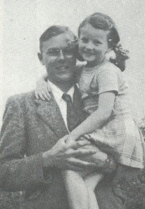 Douglas (John Main) in 1949 with his niece Anne-Marie Stanley